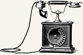 An old telephone art
